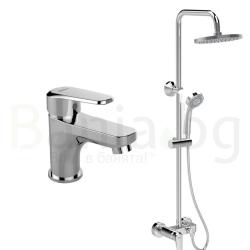 Комплект за баня VIDIMA Seva L B2190AA, смесител за мивка и душ система 200 мм, без чучур