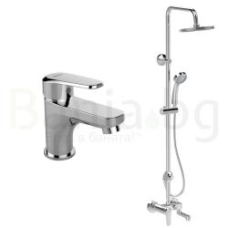 Комплект за баня IDEAL STANDARD VIDIMA Seva L B2191AA, смесител за мивка и душ система 200 мм, с чучур