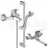 Комплект за баня IDEAL STANDARD VIDIMA Orion BC820AA, смесители за мивка, вана/душ, с чучур и тръбно окачване с ръчен душ