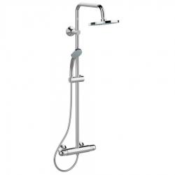 Душ система IDEAL STANDARD Ceratherm 25, A6421AA, с термостат, кръгла душ пита 200 mm, ръчен душ Idealrain 80 mm с 3 функции
