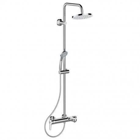 Душ система IDEAL STANDARD IdealRain Soft, B1097AA, с чучур, кръгла душ пита 200 mm, ръчен душ Idealrain 80 mm с 3 функции