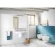 Комплект ROCA MERIDIAN тоалетна чиния и капак с з.п., структура ROCA