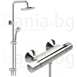 Комплект за баня VIDIMA V-Style 1, термостатен смесител за душ, без чучур, A5527AA и душ система VidimaBalance, BA274AA