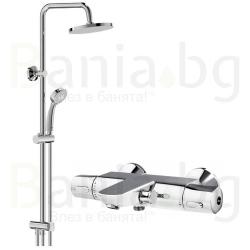 Комплект за баня VIDIMA V-Style 2, термостатен смесител за вана и душ, с чучур, A5633AAи душ система VidimaBalance, BA274AA