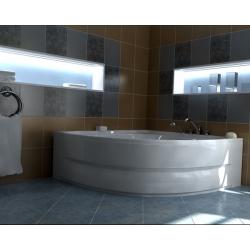 Хидромасажна вана НИЦА ПРЕМИУМ ФЛАТ, ъглова, с нагревател, за двама, различни размери, с нагревател