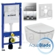 Комплект GEBERIT 3в1/IDEAL STANDARD TESI AquaBlade, тоалетна чиния, капак, структура за вграждане GEBERIT с бутон по избор и шум