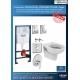 Комплект GROHE 4v1/IDEAL STANDARD VIDIMA Seva Duo, тоалетна чиния с биде, с капак, структура за вграждане GROHE с бутон по избор