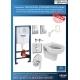 Комплект GROHE 5v1/IDEAL STANDARD VIDIMA Seva Duo, тоалетна чиния с биде, с капак, структура за вграждане GROHE с бутон по избор