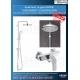 Комплект за душ GROHE EUROSMART COSMO, смесител за душ и душ система GROHE New Tempesta 210 мм, 32837000|26381001