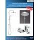 Комплект за вана GROHE EUROSMART COSMO, смесител за вана с чучур и душ система GROHE New Tempesta 210 мм, 32831000|26381001