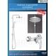 Комплект за душ GROHE EUROSMART, смесител за душ и душ система GROHE New Tempesta 210 мм, 33555002, 26381001