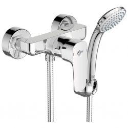 Смесител за душ IDEAL STANDARD Ceraplan III, стенен, комплект с ръчен душ, неподвижен държач и шлаух 1500 мм, B0717AA