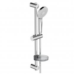 Комплект за душ IDEAL STANDARD VIDIMA Idealrain Evo Round, ръчен душ 110 мм с 3 функции, с тръбно окачване 600 мм и шлаух, хром, BC159AA