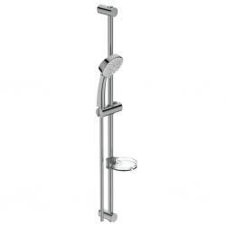Комплект за душ IDEAL STANDARD VIDIMA SevaJet L3 ръчен душ 100 мм с 3 функции, с тръбно окачване 900 мм и шлаух, хром, B9372AA