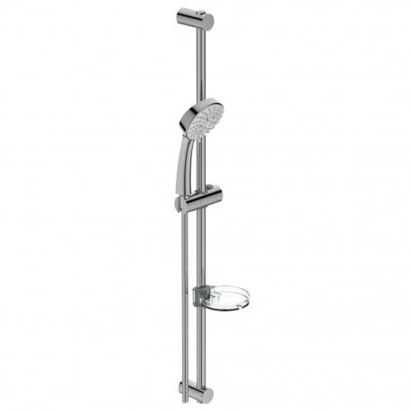 Комплект за душ IDEAL STANDARD VIDIMA SevaJet S3 ръчен душ 100 мм с 3 функции, с тръбно окачване 900 мм и шлаух, хром, B9372AA