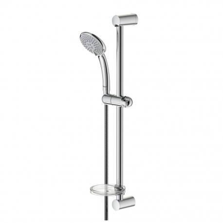 Комплект за душ IDEAL STANDARD VIDIMA Fresh M3 ръчен душ 100 мм с 3 функции, с тръбно окачване 600 мм и шлаух, хром, B0829AA