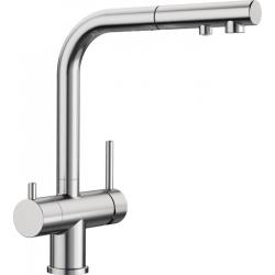 Смесител за кухня BLANCO FONTAS S хром, с изтеглящ се чучур, 2в1 за филтрирана вода