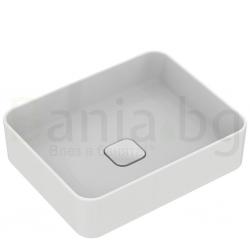 Мивка за баня IDEAL STANDARD Strada II 50 cm, за монтаж върху плот, без преливник, правоъгълна, T296701