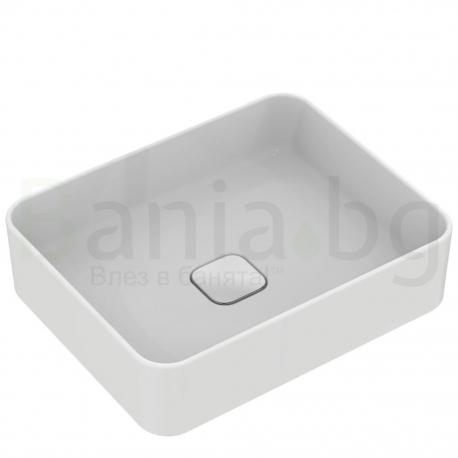 Мивка за баня IDEAL STANDARD Strada II 50 cm, за монтаж върху плот, правоъгълна, T296701