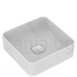 Мивка за баня IDEAL STANDARD Strada II 40 cm, за монтаж върху плот, без преливник, правоъгълна, T296201