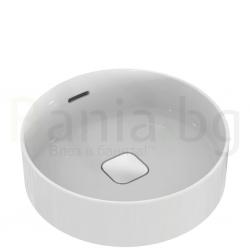 Мивка за баня IDEAL STANDARD Strada II 45 cm, за монтаж върху плот, с преливник, кръгла, T296101