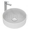 Мивка за баня IDEAL STANDARD Strada II 45 cm, за монтаж върху плот, без преливник, кръгла, T295901