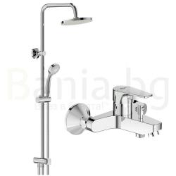 Комплект за баня IDEAL STANDARD ESLA VIDIMA BALANCE , смесител за вана и душ, с чучур, BC229AA и душ система VidimaBalance, BA274AA