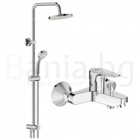 Комплект за баня IDEAL STANDARD ESLA VIDIMA BALANCE , смесител за вана и душ, с чучур, BC229AA и душ система VidimaBalance, BC22
