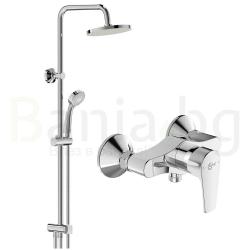 Комплект за баня IDEAL STANDARD ESLA VIDIMA BALANCE, смесител за душ, без чучур, BC228AA и душ система VidimaBalance, BA274AA