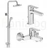Комплект за баня IDEAL STANDARD ESLA VIDIMA BALANCE , смесители за мивка и вана и душ, с чучур, BC224AA - BC229AA и душ система