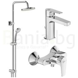 Комплект за баня IDEAL STANDARD ESLA VIDIMA BALANCE, смесител за мивка, смесител за душ, без чучур, BC224AA- BA274AA и душ система VidimaBalance, BA274AA