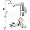 Комплект за баня IDEAL STANDARD TYRIA VIDIMA BALANCE , смесители за мивка и вана и душ, с чучур, BC161AA - BC157AА и душ система