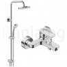 Комплект за баня IDEAL STANDARD TYRIA VIDIMA BALANCE, смесител за вана и душ, с чучур, BC157AА и душ система VidimaBalance, BC229AA
