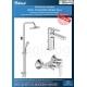 Комплект за баня IDEAL STANDARD ESLA VIDIMA BALANCE, смесител за мивка, смесител за душ, без чучур, BC224AA- BA274AA и душ систе