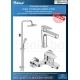 Комплект за баня IDEAL STANDARD TYRIA VIDIMA BALANCE, смесители за мивка и вана и душ, с чучур, BC159AA - BC157AА и душ система
