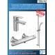 Комплект за баня IDEAL STANDARD CERATHERM T25, термостатен смесител за душ A7201AA, смесител за мивка Ceraplan III BC560AA и тръ