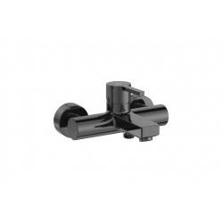 Смесител за вана/душ ROCA NAIA Titanium Black, с чучур, стенен