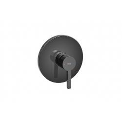 Смесител за вграждане за душ ROCA NAIA Titanium Black, стенен, външно тяло