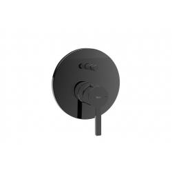 Смесител за вграждане за вана и душ ROCA NAIA Titanium Black, стенен, външно тяло, четрипътен