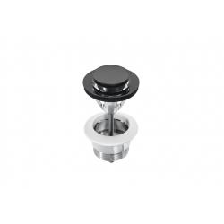Клик-клак сифон за мивка ROCA NAIA Titanium Black, горна част
