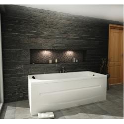Хидромасажна вана ЕКО 170х70 см, ниво В, правоъгълна, с LED осветление и възглавничка с вакумно закрепване