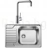 Комплект за кухня, мивка BLANCO DINAS XL 6S Compact от неръждаема стомана, мат и смесител BLANCO MILI, хром