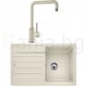 Комплект за кухня, мивка BLANCO LEGRA 45 S SILGRANIT ™, от синтетичен гранит и смесител BLANCO MILI - различни цветове