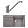 Комплект за кухня, мивка BLANCO LEGRA XL 6 S SILGRANIT ™, от синтетичен гранит и смесител BLANCO DARAS - Алу Металик