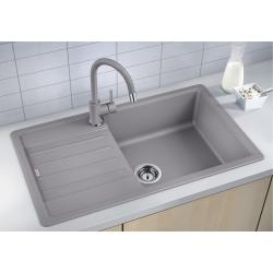 Комплект за кухня, мивка BLANCO LEGRA XL 6 S SILGRANIT ™, от синтетичен гранит и смесител BLANCO MIDA - Алу Металик