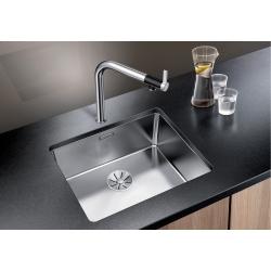 Кухненска мивка BLANCO ANDANO 500 U от неръждаема стомана, за монтаж под плот