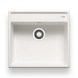 Мивка за кухня PYRAMIS CAMEA (50x53) 1B PYRAGRANITE™ - White, от синтетичен гранит