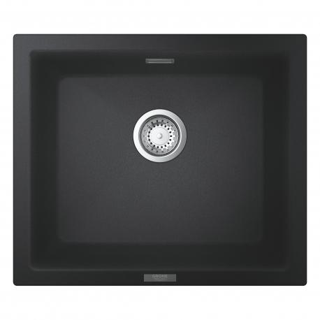 Мивка за кухня GROHE K700 31654AP0 - за под плот или над плот, цвят granite black, от синтетичен гранит