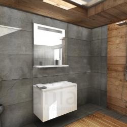 Мебели за баня ЛЕО 55 см., комплект долен шкаф с мивка и огледало