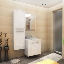Мебели за баня ХЕРА 55 см., комплект долен шкаф с мивка и огледало, без колона